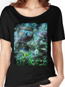 Dolphin's Under The Sea   Women's Relaxed Fit T-Shirt