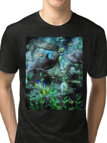 Dolphin's Under The Sea   Tri-blend T-Shirt