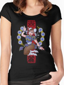 PIN UP FIGHTER Women's Fitted Scoop T-Shirt