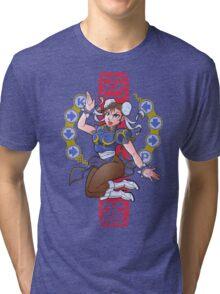 PIN UP FIGHTER Tri-blend T-Shirt
