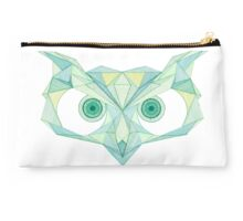 Angry owl line drawing Studio Pouch