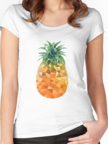 Low Poly Pineapple Women's Fitted Scoop T-Shirt