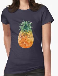 Low Poly Pineapple Womens Fitted T-Shirt