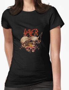 slayer skull Womens Fitted T-Shirt