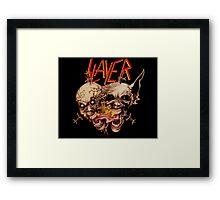 slayer skull Framed Print