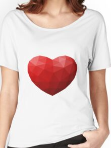 Low Poly Heart Women's Relaxed Fit T-Shirt