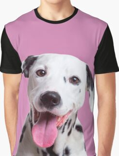 Happy, laughing Dalmatian dog Graphic T-Shirt