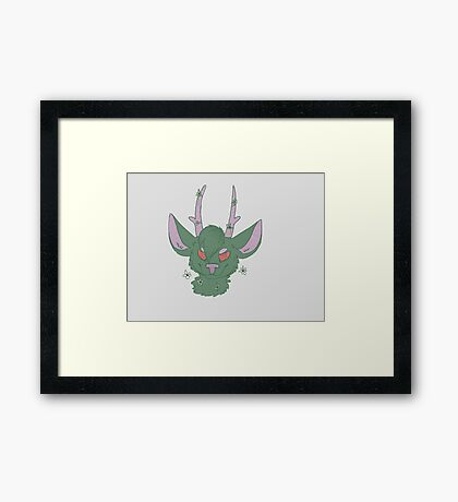 Green Deer Framed Print