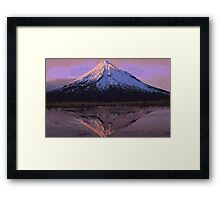 Pixel Mountain Framed Print