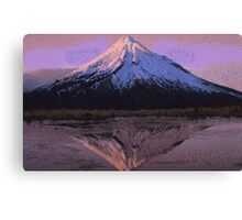 Pixel Mountain Canvas Print