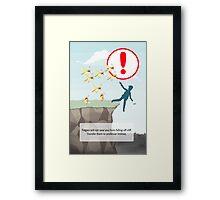 "Pokemon Go ""Safety Reminder"" Framed Print"