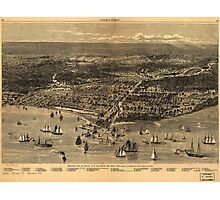 Bird's-Eye-View Of Chicago As It Was Before The Great Fire (1871) Photographic Print