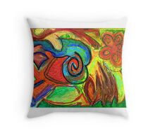 Mapping Nature Throw Pillow