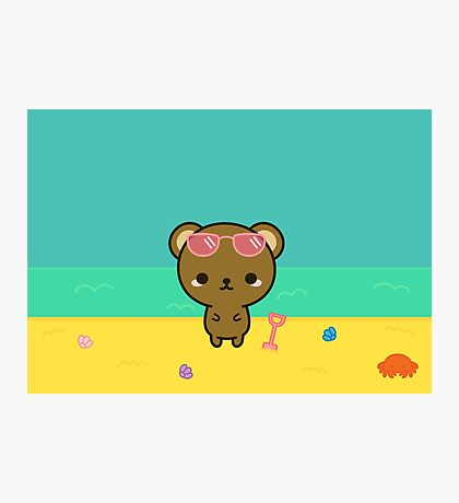 Cute bear on holiday Photographic Print