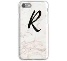 Pink Marble Effect Monogram - R iPhone Case/Skin