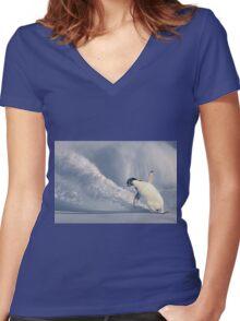 Mad Shredding Women's Fitted V-Neck T-Shirt