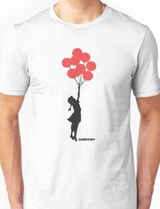 BANKSY - RED BALLOONS Unisex T-Shirt