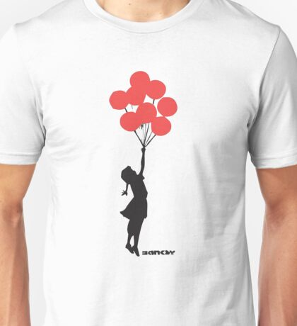 BANKSY - RED BALLOONS Unisex T-Shirt