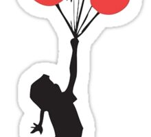 BANKSY - RED BALLOONS Sticker