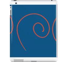 Spiral - Red on Blue iPad Case/Skin