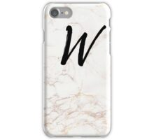 Pink Marble Effect Monogram - W iPhone Case/Skin