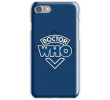 Doctor Who Diamond Logo Blue White Lines. iPhone Case/Skin