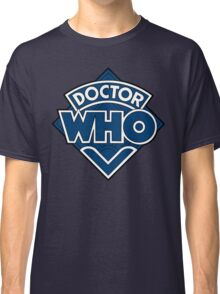 Doctor Who Diamond Logo Blue White Lines. Classic T-Shirt