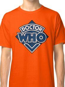 Doctor Who Diamond Logo Blue White Lines. Classic T-Shirt