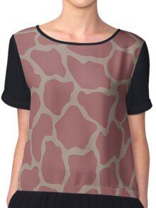 Pink Giraffe Chiffon Top