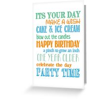 Birthday Fun - Blue Greeting Card