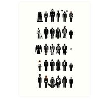 Dr Who recognition guide Art Print