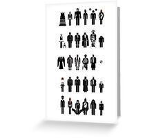 Dr Who recognition guide Greeting Card