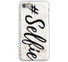 Pink Marble Effect #Selfie iPhone Case/Skin