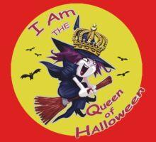 I Am the Queen of Halloween  Kids Tee