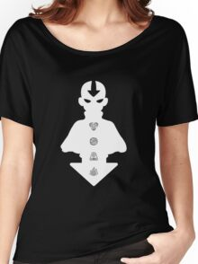 Aang white version Women's Relaxed Fit T-Shirt