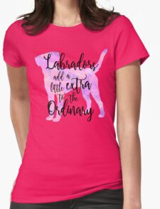 Extraordinary Labrador Watercolor Womens Fitted T-Shirt