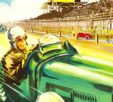 """ISLE OF MAN"" Vintage Grand Prix Auto Race Print Sticker"