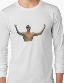 Phelps 200 Fly Win Reaction Long Sleeve T-Shirt