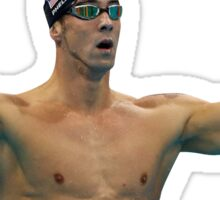 Phelps 200 Fly Win Reaction Sticker