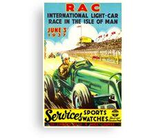 """ISLE OF MAN"" Vintage Grand Prix Auto Race Print Canvas Print"