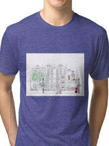 Mount Street meets Audley Street W1 Tri-blend T-Shirt