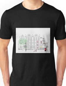 Mount Street meets Audley Street W1 Unisex T-Shirt
