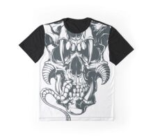 Snake Skull Graphic T-Shirt