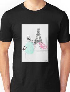 Parisienne watercolour illustration. Unisex T-Shirt
