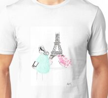 Parisienne watercolour illustration. Unisex T-Shirt