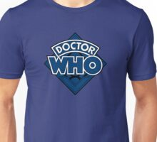Doctor Who - Diamond Logo Blue Black Bars Unisex T-Shirt