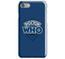 Doctor Who - Diamond Logo Blue Black Bars iPhone Case/Skin