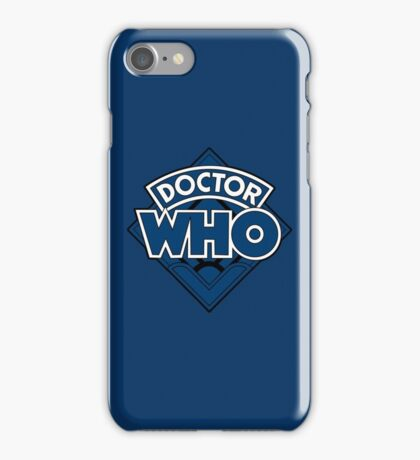 Doctor Who - Diamond Logo Blue Black Bars iPhone Case/Skin