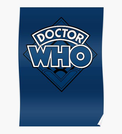 Doctor Who - Diamond Logo Blue Black Bars Poster