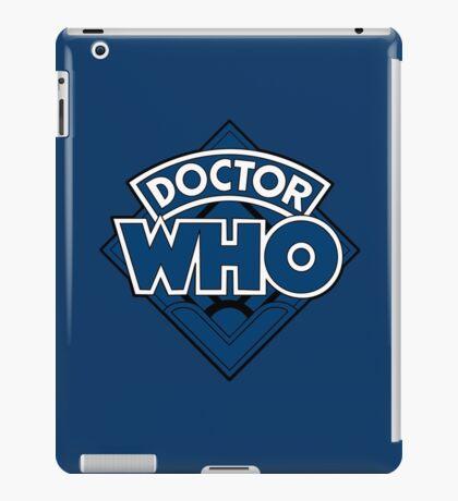 Doctor Who - Diamond Logo Blue Black Bars iPad Case/Skin